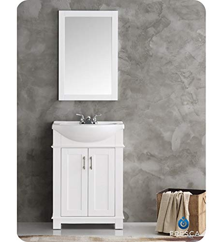 Fresca FVN2302WH-CMB Hartford 24' White Traditional Bathroom Vanity