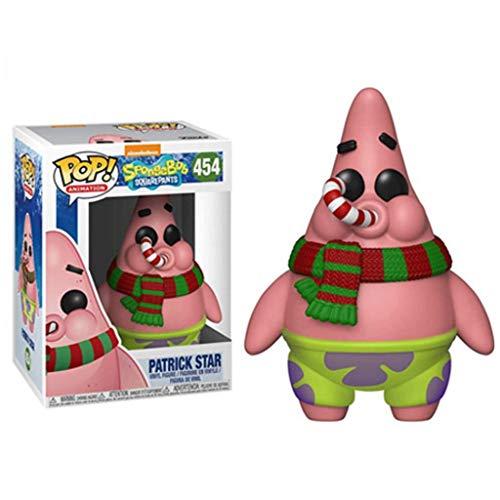 PLL Bob Esponja: Patricio Estrella (Navidad) Pop Figura Modelo Decoración Adornos Collection