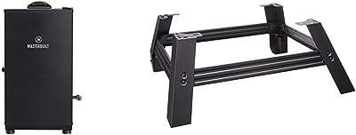Masterbuilt MB20071117 Digital Electric Smoker, 30 inch, Black & MB20101114 Universal Leg Extension Kit, Black