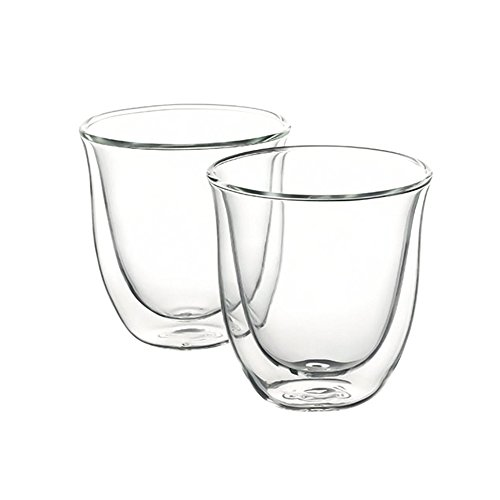 Delonghi 5513214601 Cappuccino Thermo Glasses - Pack of 2 & Kitchen Craft Stainless Steel Milk Frothing Thermometer