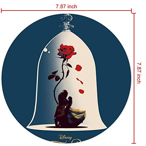 DISNEY COLLECTION Mouse Pad Round Mouse Pad Beauty Beast Rose Enchanted and The Series