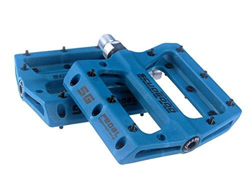 Pedales ligeros para bicicleta de montaña, para bicicletas tipo: AM, FR, DH, DJ, BMX, 1par, azul