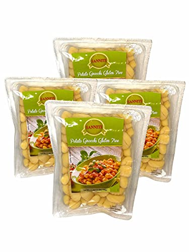 Sanniti Gluten Free Potato Gnocchi, 17.5 oz (500 g) (Pack of 4)