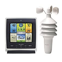 AcuRite 00589 Pro Color Weather Station with Wind Speed, Temperature and Humidity,Full Color