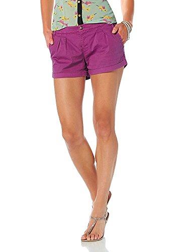 AJC Damen Shorts Chinoshorts Bermuda (38, Lila)