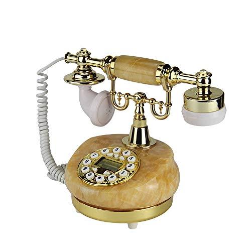YANGYUAN Un teléfono retro, pantalla LCD antiguo teléfono FSK/DTMF doble sistema con cable, estilo europeo retro vintage teléfono fijo