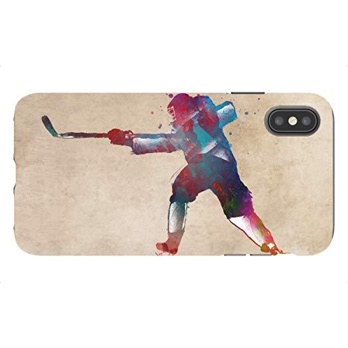 artboxONE Tough-Case Handyhülle für Apple iPhone XS Max Hockey von Justyna Jaszke