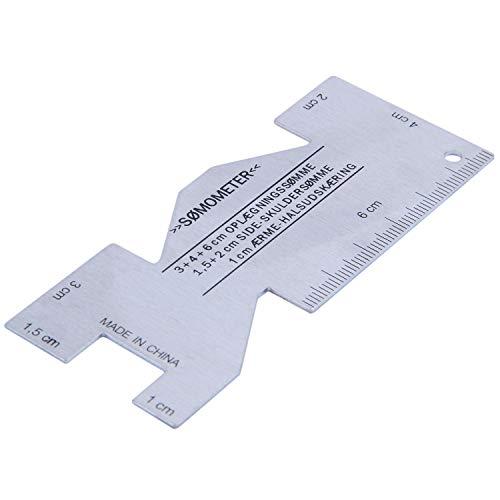 REFURBISHHOUSE Somometro de Metal Reglas de Costura Calibre