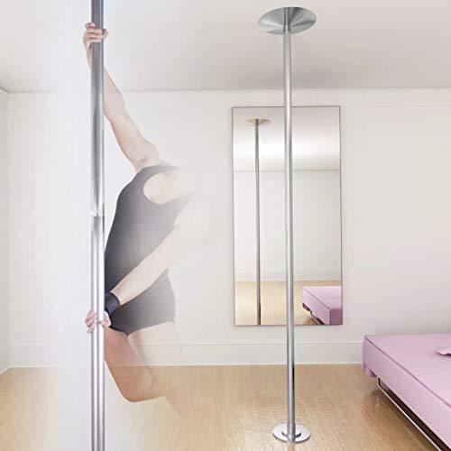 UBaymax Profi Tanzstange Höhenverstellbar, 45 mm Edelstahl Pole Dance Stange, Länge Stangentanz Set, Strip Stange Static & Spinning, höheren Belastbarkeit, leicht aufzubauen