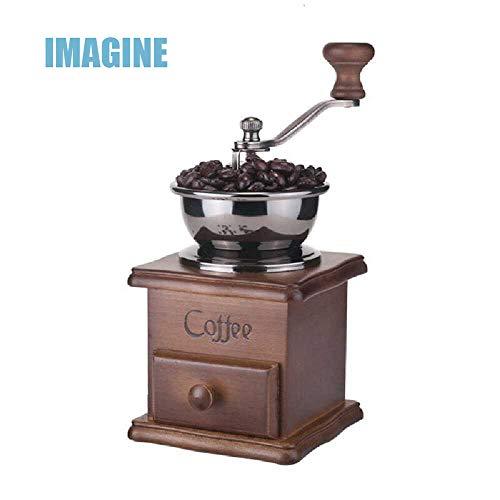 IMAGINE Handmatige Koffiemolen, Retro Houten Koffiemolen \ Hoge Kwaliteit Keramische Handfreesmachine Vlas