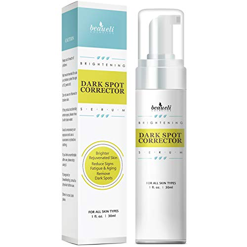 Beaueli Dark Spot Corrector Brightening Serum 30ml, For Face and Body, Effective Ingredients with Potent Vitamin C, Hyaluronic Acid, Niacinamide, Sensitive Skin For Men&Women, Anti Aging Treatment