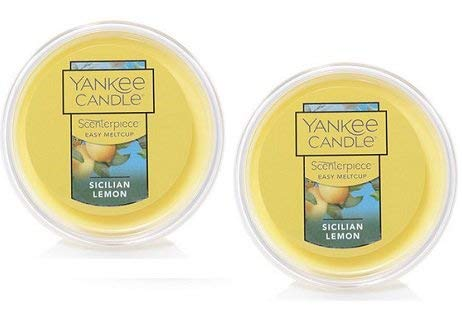 Yankee Candle 2 Pack de limón siciliano Easy MeltCup. 2.4 oz.