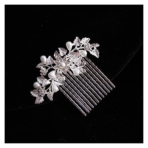 TOPHUHAI Belle mariée Cheveux Robe de mariée Robe de mariée Accessoires de Cheveux pinceaux de Cheveux pour Femmes Perles Bijoux Bijoux hâte de Coiffe de Coiffe (Couleur : D-3)
