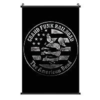 """Grand Funk Railroad グランド・ファンク・レイルロードポスター 壁掛け 装飾画 掛ける絵 吊り絵 巻物 インテリア 壁の絵 ウォールアート 家の壁の装飾画 北欧 現代 ポップ アート 美しい オフィス 玄関 リビングと寝室の飾り 部屋飾り シンプル アートパネル 写真 ソファの背景絵画16""""×24"""""""