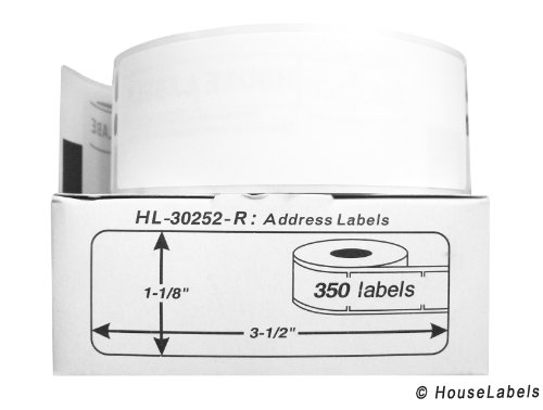 """42 Rolls; 350 Labels per Roll of Compatible with DYMO 30252-R Removable Address Labels (1-1/8"""" x3-1/2"""") - BPA Free!"""