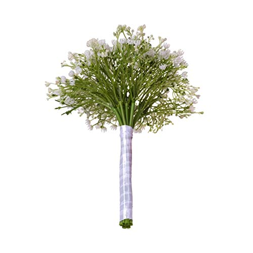 Roovtap Plastikblumen Gypsophila Plant Simulation Bouquet High-End-Dekoration Getrocknete Blumen Fake Flowers Hauptdekorationen Dried Flower (Color : Green) - 5