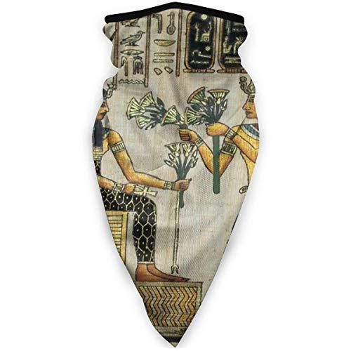 GUPENG Pañuelo para la cara de la motocicleta de papiro egipcio, estilo retro, unisex, polaina para el cuello, diadema para mujeres y hombres, resistente al viento, color negro