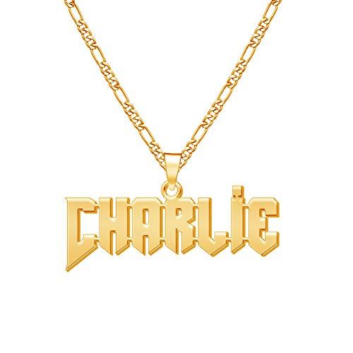 MissChic Namenskette, Kette mit Name,S925 Silber Personalisierte Herren Kette für Männer Herren Vater Großvater