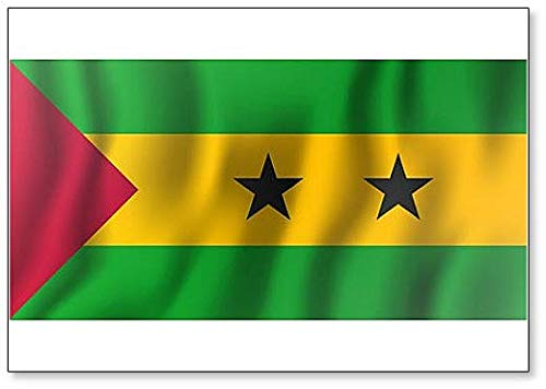 Kühlschrankmagnet, Motiv: Flagge von Sao Tome & Principe
