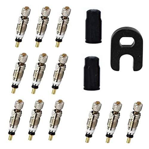 MIFASA 15 piezas válvulas de bicicleta núcleo herramientas válvulas adaptador de núcleo durable válvulas sin cámara neumático