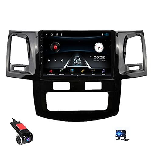 9'Android 10 Navigazione GPS Car Stereo Radio Lettore Video multimediale per Toyota Fortuner Hilux 2007-2015 Supporto Bluetooth Controllo del Volante USB WiFi Dash Cams(Color:WiFi 1g+16g)