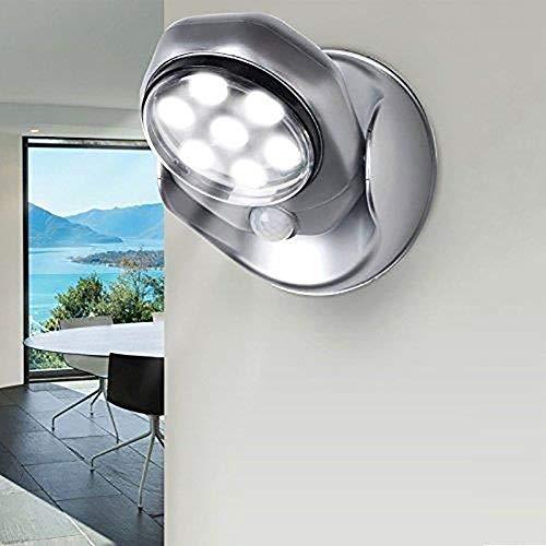 Lámpara de inducción del cuerpo humano de detección de luz Pasillo Escaleras, Pasillo, escaleras, Depot 360 ° de rotación noche de la lámpara