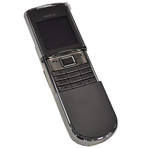 Nokia 8800d 'Sirocco (Inglés + Teclado Ruso)–128MB Plata fábrica Desbloqueado 2G gsm Teléfono Celular de colección