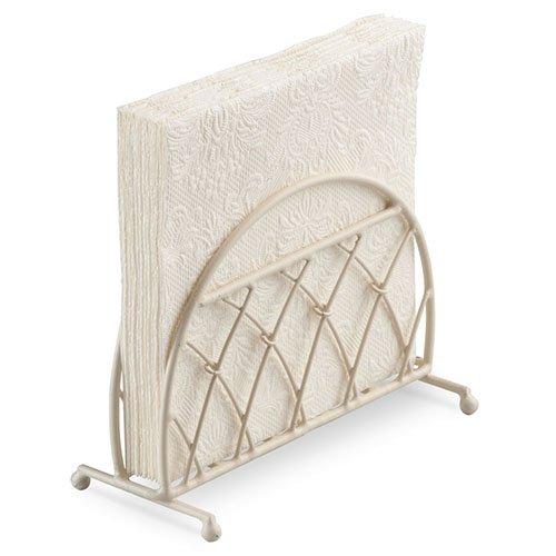 Ambiente Serviette Support Vertical Treillis Design Couleur Crème (Shabby Chic)