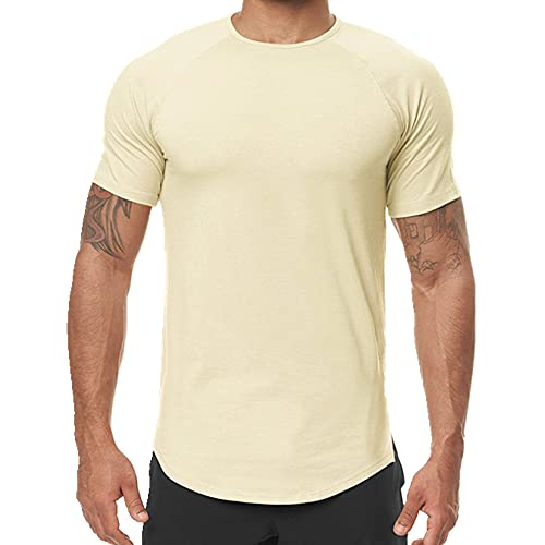 N\P Camiseta de manga corta para hombre de verano para hombre