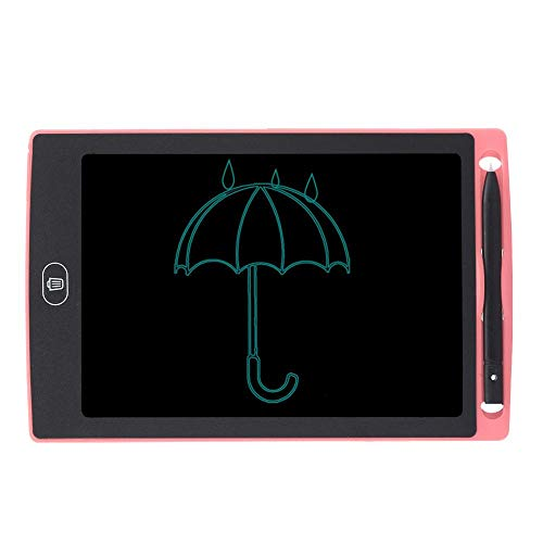 Bewinner1 LCD Writing Tablet, 8.5in No Bright Light No Blue Light No Myopia Eye Protection LCD Children Smart Graffiti Drawing Doodle Board One Click To Clear Kids' Doodle Scribbler Boards(Pink)