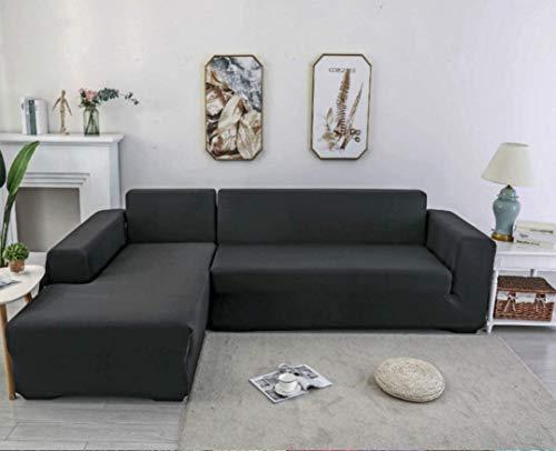 X-ZBS - Funda elástica para sofá en forma de L (un sofá esquinero en L requiere 2)