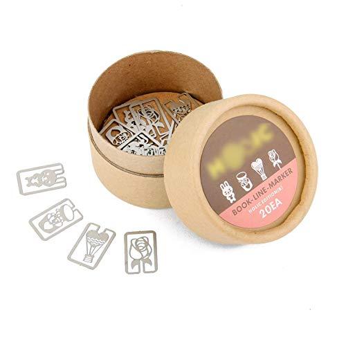 20 piezas Mini-clip de marcador de libro metal creativo marca de página señal personalizada Bookmark Escuela de papelería Bookworms