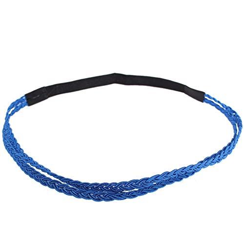 lecoolz Schönes Geflochtenes Haarband Stirnband Kopfband Blau