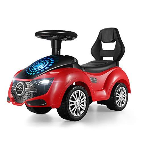 SUN JUNWEI Kids Twist Car,Roller Kinderspielzeug Kinder Wackeln Kreisel Twist Auto, Kleinkind Kleinkind Wackeln Gyro Twist Roller Schieben,Rot