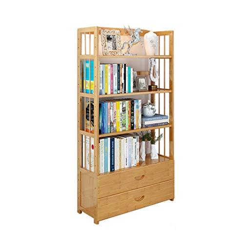 DIY cabinet Einfaches Fach-Bücherregal, Studenten-Bücherregal-Vollholz-Lagerregal-Multifunktions-stehender Aufbewahrungsschrank