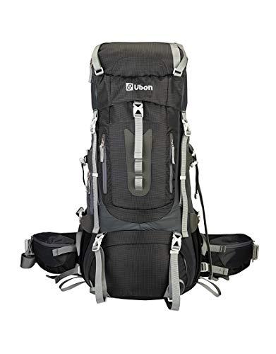 Ubon Internal Framed Backpack Adjustable High Performance Backpack Black