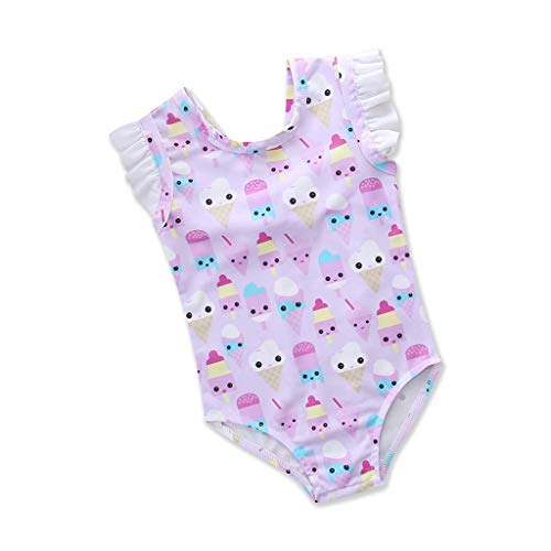 Zomer Peuter Badpak, HROIJSL Kids Baby Meisjes Zwemmen Strik Bloem Zwemkleding Badpakken Bikini Outfits 3D Bloem Hanging Neck Tie Split Badpak