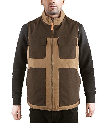 HARD LAND Heren Omkeerbare Fleece Gilet Outdoor Werk Bodywarmer Werkkleding Lichtgewicht Tailleband