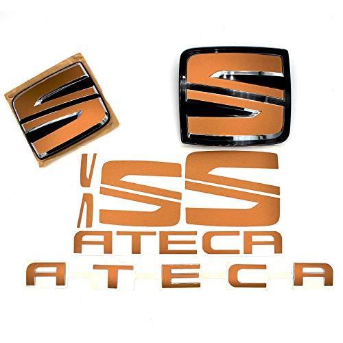 Emblem Set vorne + hinten inkl. Lenkrad von Finest-Folia (K107 Kupfer Matt Metallic)