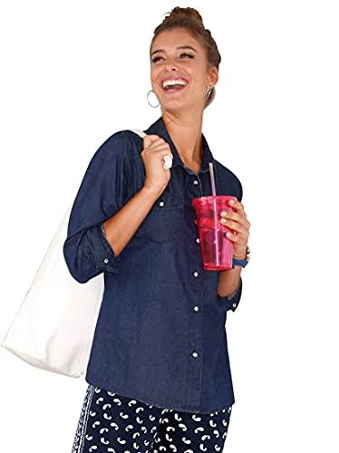 VENCA Camisa Vaquera Cierra con automáticos Mujer - 010158