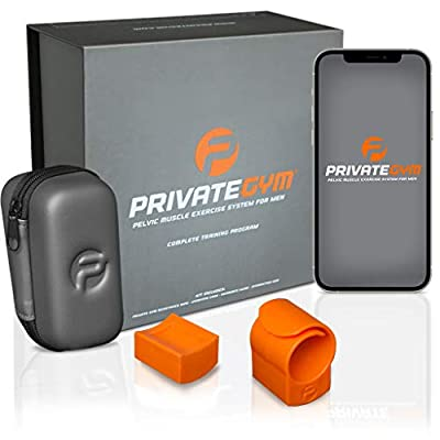 Private Gym Kegel and Pelvic Exercise System for Men | Drastically Improve Pelvic Health Without Meds or Side Effects | Discreet Stamina Trainer for Stronger, Longer-Lasting Performance (Orange) by Private Gym