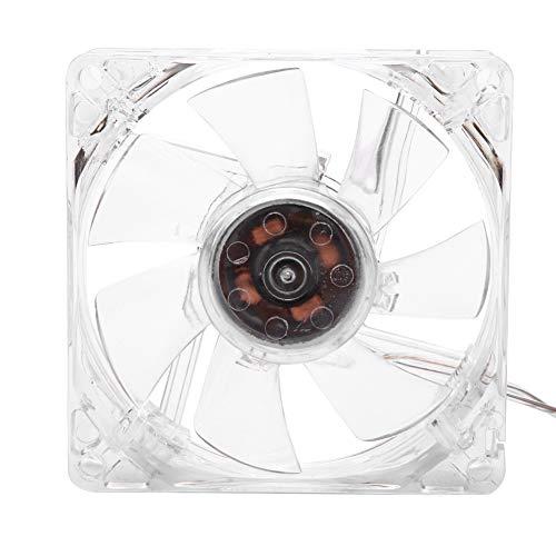 Ventola di Raffreddamento CPU 5V Luce Colorata USB da 8 cm Trasparente Ventilatore Alta qualità Ventola Resistente 10000 Ore di Vita Lavorativa per PC Computer