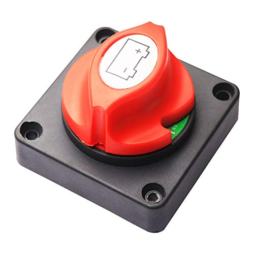 Elitezip Battery Disconnect Switch Cut Off 12V-48V Battery Isolator Master Disconnect Power Cut Off for RV Truck Car Vehicle and Boat