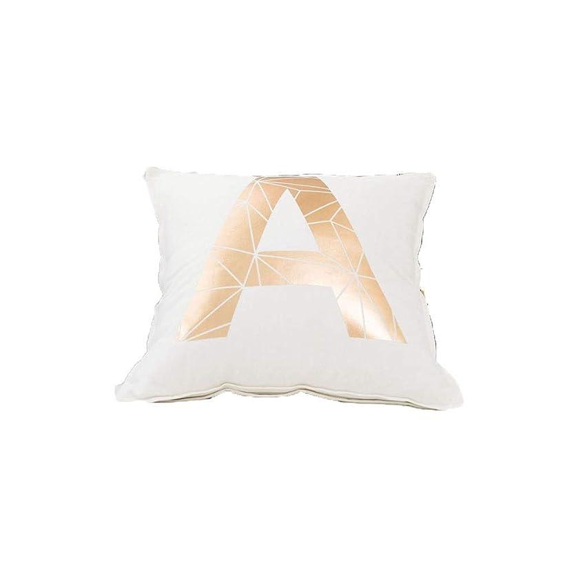必要品揃えロボットMayalina 枕クッション手紙ホットスタンプファッション小さな新鮮なシンプルな枕フォトソファリビングルーム (色 : A rose gold, Size : 45*45cm)