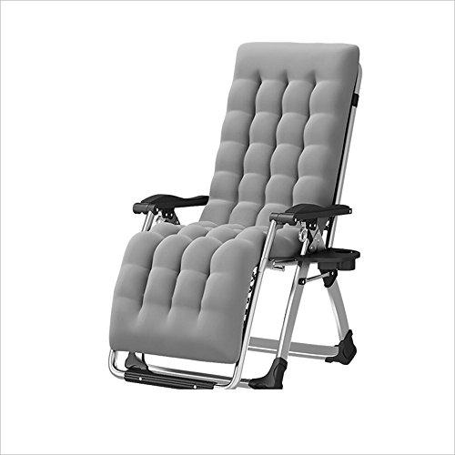 Xiaolin Vieil Homme Chaise Chaise Pliante Paresseux Maison Nap lit Fauteuil Balcon Chaise Femmes Enceintes Chaise (Couleur : Gray)