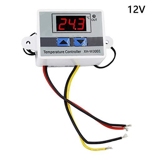 Controlador de temperatura, pantalla LCD automática, interruptor regulador de termostato digital multiuso, sensor ajustable de calor frío electrónico con sonda inteligente compacta, 12v, Tamaño libre