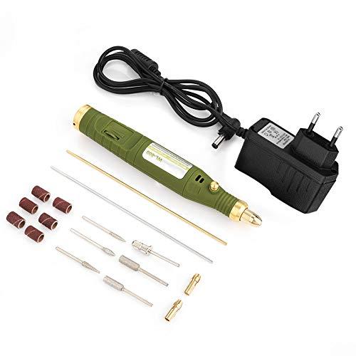 Zunate Amoladora eléctrica eléctrica con mini amoladora de grabado eléctrico, herramientas rotativas, para tallar, lijar, cortar, bordar, pulir, taladrar, etc.