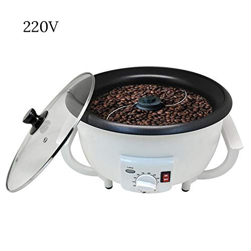 Tostador de Granos de café Beans Tostadora de café para hogar,Mini Tostadora rotativa de Acero Inoxidable,Tostadora para moler Especias