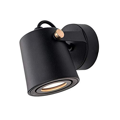Zas Loft Lámpara De Pared SimplicidadDe Hierro Y Placa De Madera Lámparas De Pared para Los Niños Dormitorio Dormitorio Hotel Bar (Color : Black)