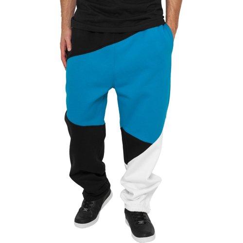 Urban Classics Jogginghose Zig Zag Sweatpants Pantalon de Sport, Noir/Gris, XS Homme